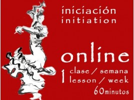Flamenco Dance Initiation 1 lesson/week ONLINE