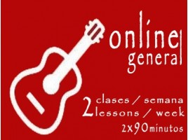 General Guitar 2 lessons/week ONLINE