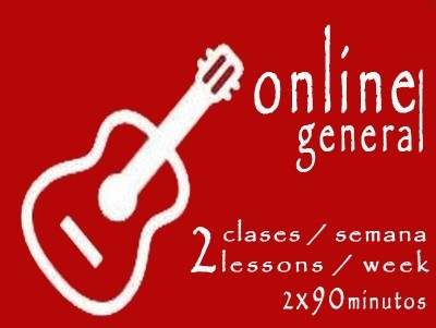 General Guitar 2 lessons/week ONLINE 2x90'