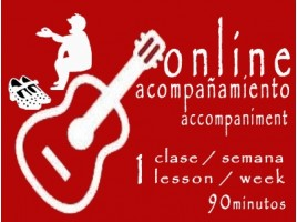 Guitar Accompaniment 1 lesson/week ONLINE 90'