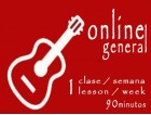 General Guitar 1 lesson/week ONLINE 90'